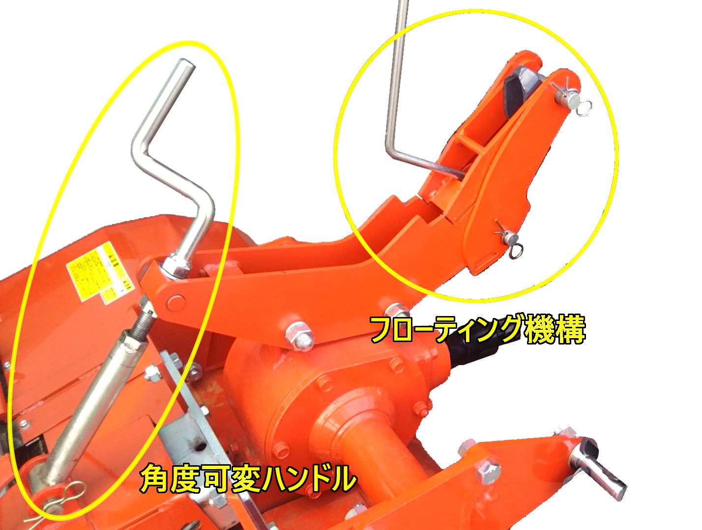 フローティング機構と角度可変ハンドル